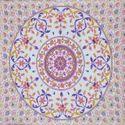 Indian White Floral Pot Design Print Duvet Doona Cover