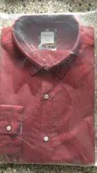 Red Casual Wear Black Berry Mens Designer Shirt
