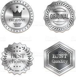 Stainless Steel Metal Badge With Pin