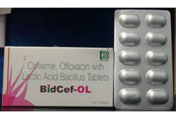 Cefixime 200mg, Ofloxacin 200mg, Lactic Bacillus Tablets