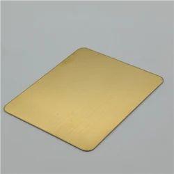 Rectangular Golden Color Stainless Steel Sheet