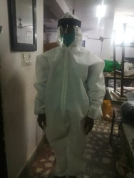 Coverall With Face Shield And Shoe Cover