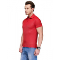 Mens Red Polo Collar T Shirt