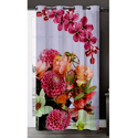 Trendy Flowery Digital Curtain