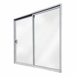 White Sandeep Square Aluminum Sliding Door, Size: 3x 7 Feet