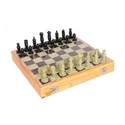 Black And Brown Marble Chess, Packaging Type: Carton