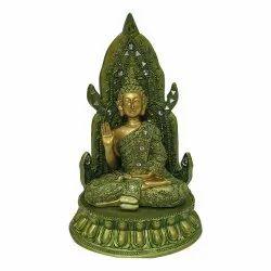 Green Buddha Hand up Statue