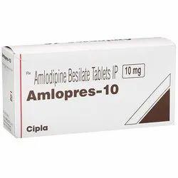 Amlodipine (10mg) Amlopres10 Tablet
