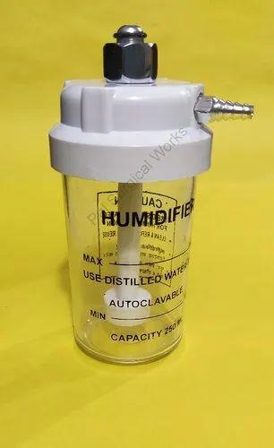 Oxygen Humidifier Bottle Autoclavable For BPC Flometer