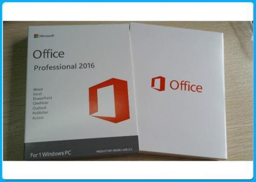 Microsoft Office 2016 Professional Plus 32/64 Bit DVD Pack with License  Product Key for Life Time