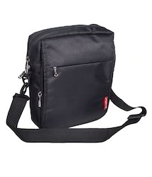 Black Travel Sling Bag for Men