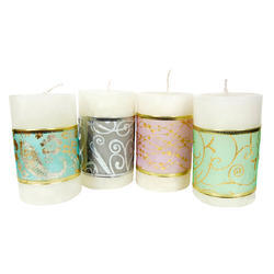 Printed Pillar Candles