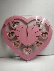 Wooden Glass Clock