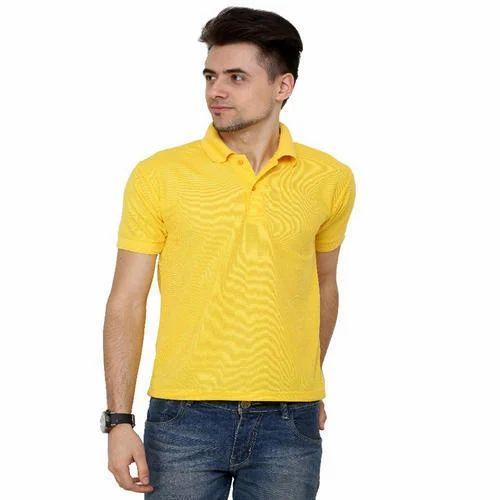 5e7c1a26d Drantpark Large Mens Yellow Polo T Shirt, Rs 125 /piece, De ...