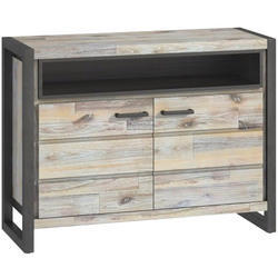 Grey Wooden Side End Table