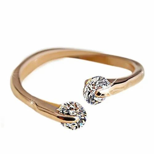 Brass Golden Imitation Fashion Finger Ring, Packaging Type: Box, Size: 16.5 - 20.6 mm