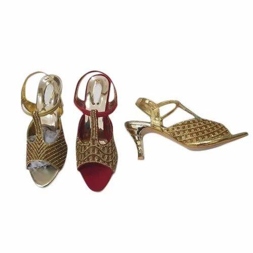 Ladies Low Heel Bridal Sandals, Size: 6