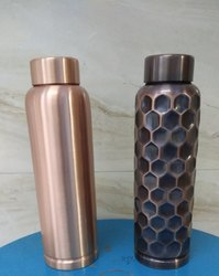 S.s.handicrafts Matt & Antique Copper Bottle, Capacity: 950 Ml