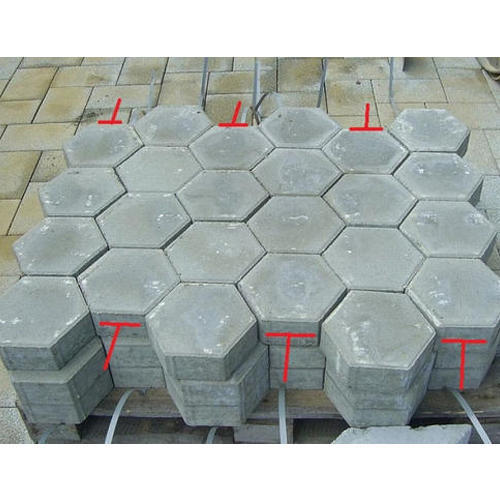 Grey Hexagon Concrete Paver Block