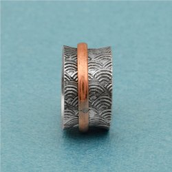 925 Sterling Silver Antique  Meditation Band Ring