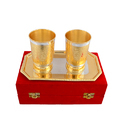 Silver & Gold Plated Water Glass Set