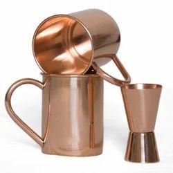 Straight Copper 18 Oz Set Of 2 Pc Free Shot Glass