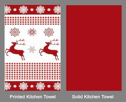 Christmas Deer Dish Towel