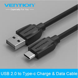 Vention Black USB 2.0 To USB Type C Charger & Data Cable
