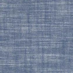 Plain Blue Linen Effect Chambray Fabric, Use: Garment