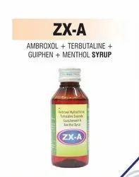 Ambroxol & Terbutaline & Guiphen & Menthol Syrup