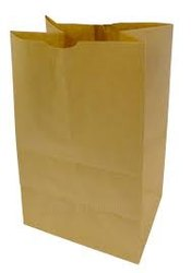 Verticle Brown Kraft Paper Pouches