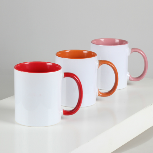 ceramic coffee mug with inside color for office rs 130 piece id