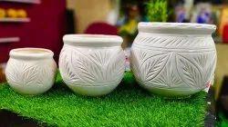 Set of 3 Ceramic Pots