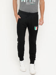Black L and S Track Pant For Men's
