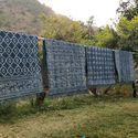 Indigo Block Print Dabu Dhurrie