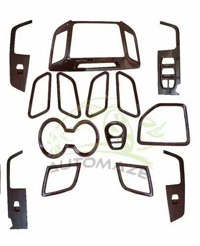 Automaze Abs 14 Piece Creta Wooden Interior Kit, For Dashboard Application