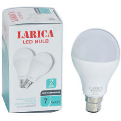 Larica Plastic, Aluminium 7 Watt LED Bulb, 220 V to 240 V