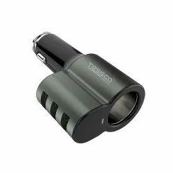 Black Tessco Multi USB Portable Battery Car Charger