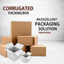 Brown And White Rectangle Plain Corrugated Packaging Box