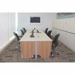 Beige Conference Table