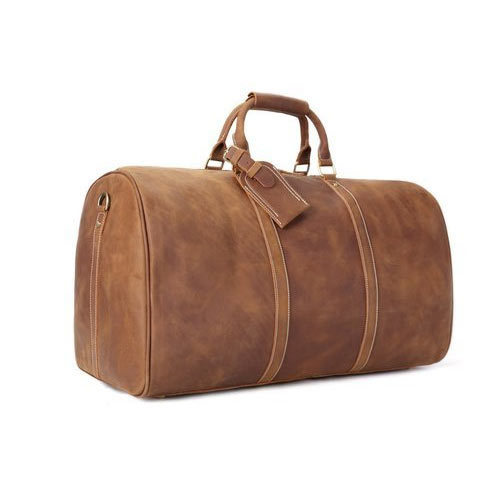 f58fe1dd5aa Hand Bag Distressed Brown Leather Duffle Bag, Rs 2000 /piece | ID ...