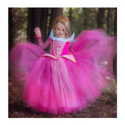 Polyester Cotton Kids Party Wear Gown