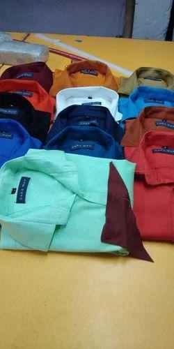 Non branded Cotton Men Plain Shirt