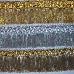 Silver & Gold Lurex Fringe