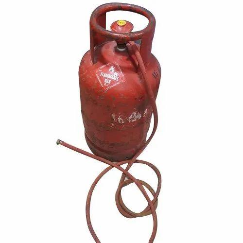 Carbon Steel Kitchen Indane Gas Cylinder, 14.2 Kg, 539.366-21657.324 Kpa