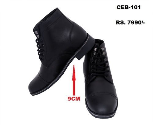 Celby Sharp Black Color Boot With Side
