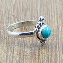 Turquoise Gemstone Semi Precious 925 Sterling Silver Small Rings