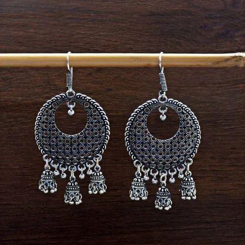 MK Jewellers Brass German Silver Exclusive Dangler With Mini