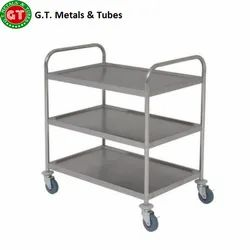 Silver SS Canteen Trolley