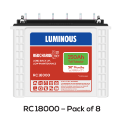 Red Charge - RC 18000 Tubular UPS Battery